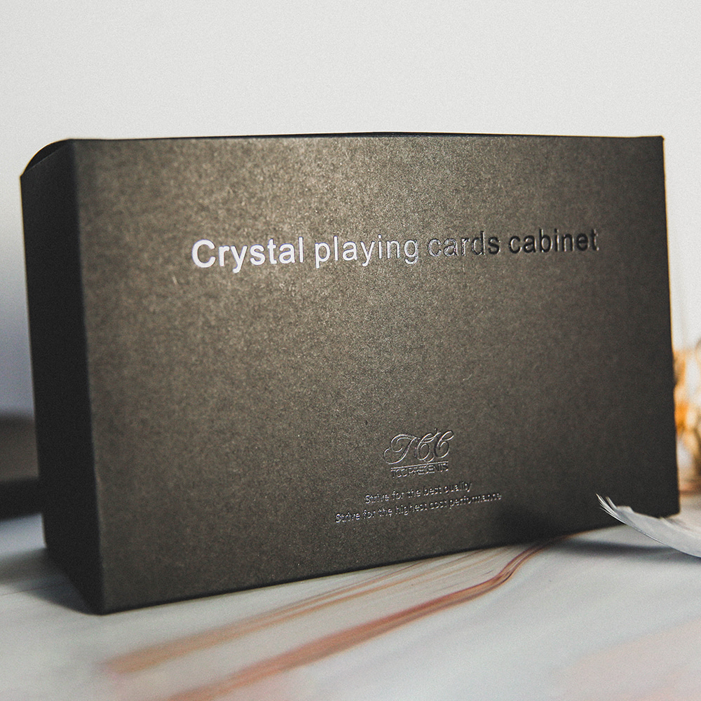 Crystal Playing Cards Cabinet By TCCCrystal Playing Cards Cabinet By TCC