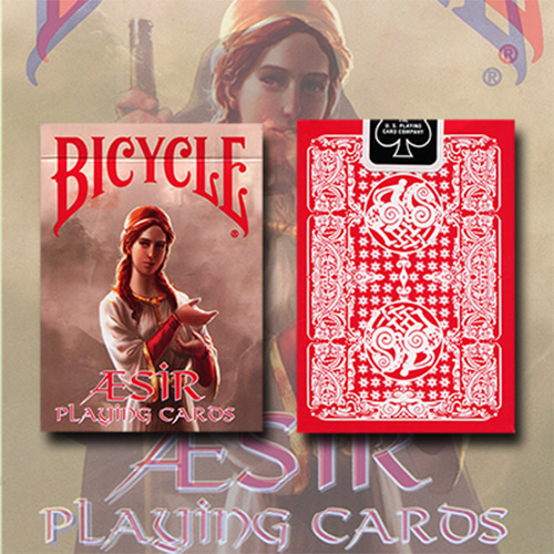 제이엘매직 바이시클애시어바이킹갓덱(Bicycle AEsir Viking Gods Deck (Red) by US Playing Card Co. - Trick)