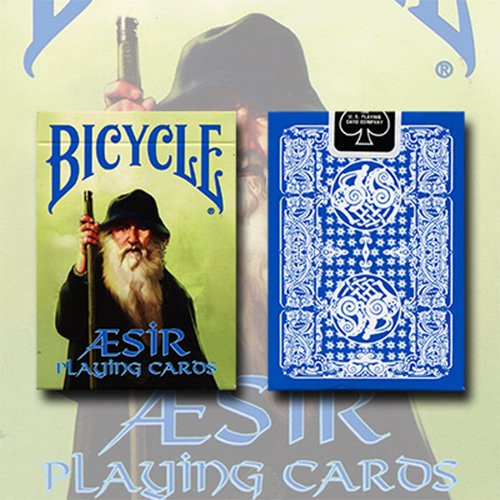 제이엘매직 바이시클블루애시어바이킹갓덱(Bicycle Blue AEsir Viking Gods Deck (Blue) by US Playing Card Co. - Trick)