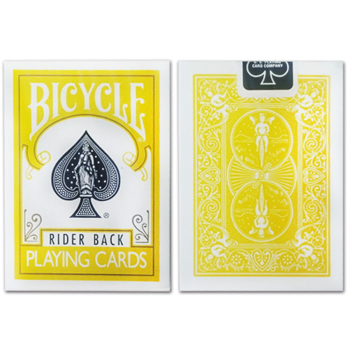 제이엘매직 바이시클카드_옐로우(Bicycle Poker Deck _Yellow Deck)_by Di Fatta and USPCC