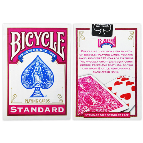 제이엘매직 바이시클카드_푸시아(Bicycle Poker Deck _Fuchsia Deck)_by Di Fatta and USPCC