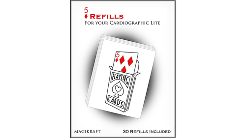 Cardiographic Lite RED CARD 5 of Diamonds Refill*** by Martin Lewis-TrickCardiographic Lite RED CARD 5 of Diamonds Refill*** by Martin Lewis-Trick