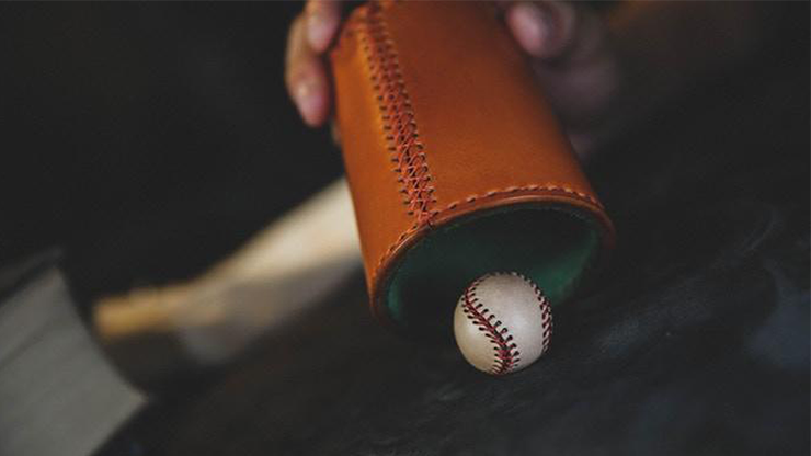 Leather Chop Cup with Balls (Brown) by TCC