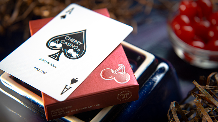 Cherry Casino House Deck Playing Cards (Reno Red) by Pure Imagination Projects