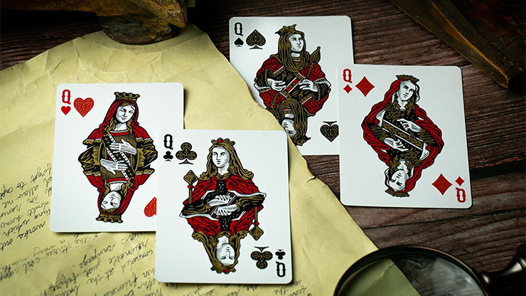Devil's in the Details Glamourous Gold Playing Cards by Riffle Shuffle
