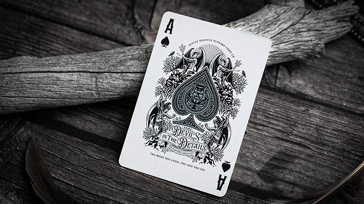 Devil's in the Details Sinful Silver Playing Cards by Riffle Shuffle