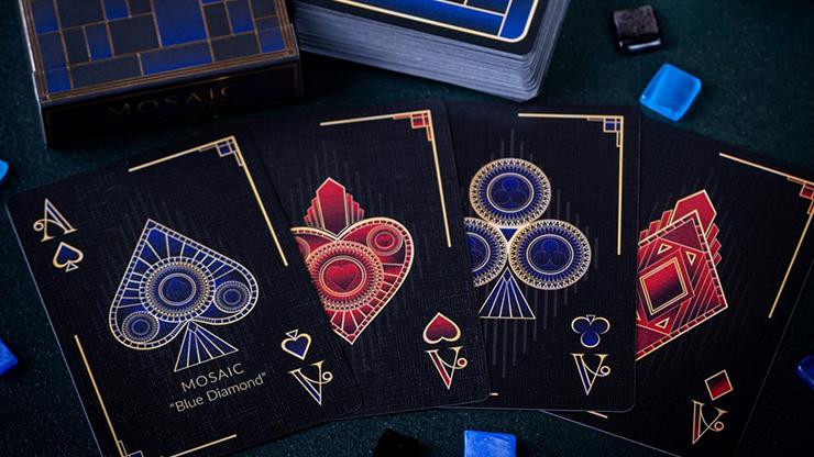 Mosaic BLUE DIAMOND Playing Cards