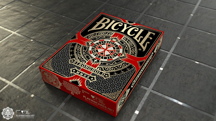 Bicycle Stronghold Crimson Playing Cards